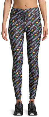 The Upside Sport Logo-Print Full-Length Leggings
