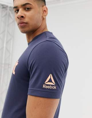 Reebok Crossfit logo t-shirt in navy