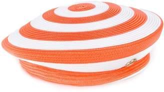 Emilio Pucci Orange and White Striped Beret