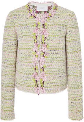 Giambattista Valli Floral-Embellished Tweed Jacket