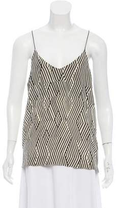 Giada Forte Silk Sleeveless Printed Top