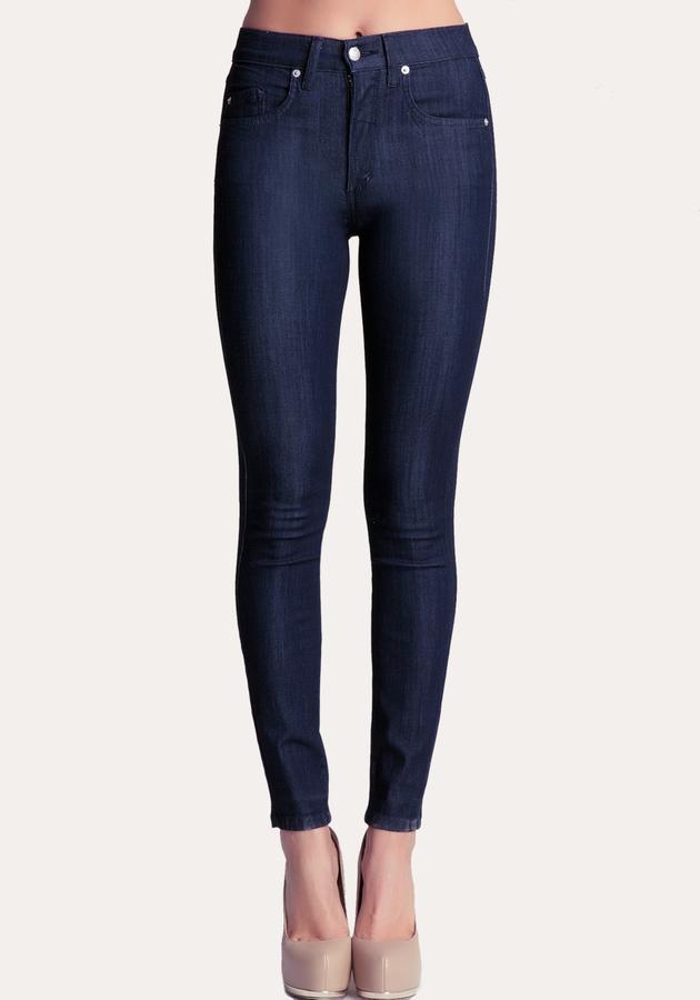 Bebe High Waist Ankle Skinny Jeans