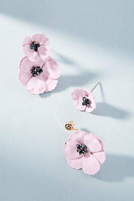 Anthropologie May Flowers Front-Back Earrings
