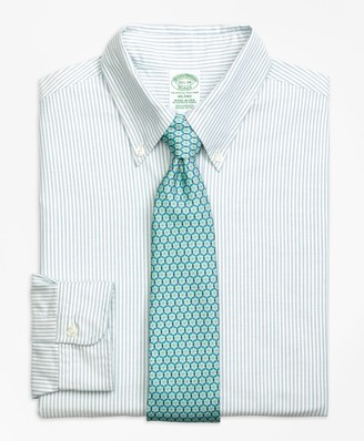 Brooks Brothers Original Polo Button-Down Oxford Milano Slim-Fit Dress Shirt, Bengal Stripe