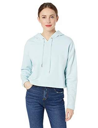 Ella Moss Women's Elise Crop Hooded Sweatshirt with Sharkbite Hem