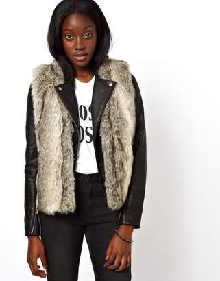 Asos Design Faux Fur Vest