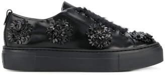 AGL flower embellished platform sneakers