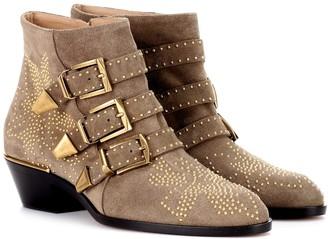 Chloé Susanna Short suede ankle boots