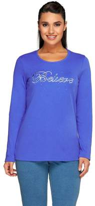 Factory Quacker Holiday Believe Round Neck Long Sleeve T-shirt