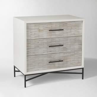 west elm Wood Tiled 3-Drawer Dresser