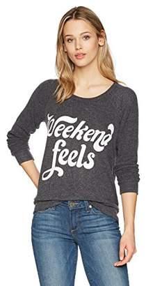 Chaser Women's Love Knit Sleepwear Long Sleeve Raglan Pullover