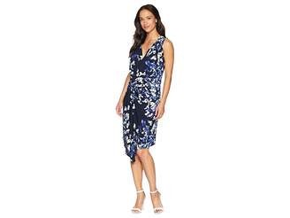Ellen Tracy Twisted Front Sleeveless Dress