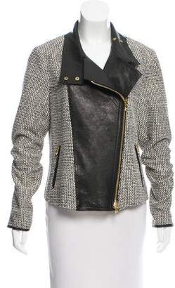 Veronica Beard Leather-Trimmed Jacket