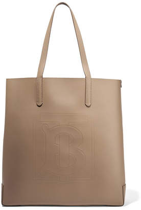 Burberry Debossed Textured-leather Tote - Camel