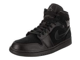 Nike Men's Air Jordan 1 Mid Basketball Shoes, Dark Grey/Black 050