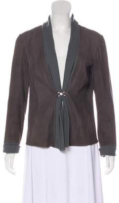 Armani Collezioni Lightweight Leather Jacket