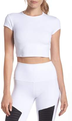 Alo Choice Short Sleeve Crop Top