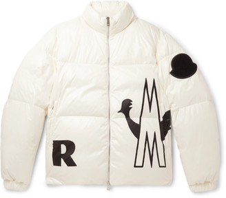Moncler Friesian Printed Quilted Shell Hooded Down Jacket - Men - Off-white