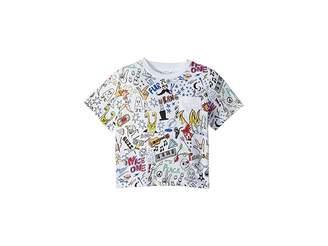 Stella McCartney Basil All Over Printed Short Sleeve Tee (Toddler/Little Kids/Big Kids)