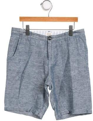 Armani Junior Boys' Mid-Rise Linen-Blend Shorts