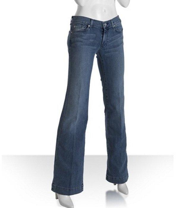 7 for All Mankind new tahiti stretch 'Dojo' stitched pocket flare leg jeans
