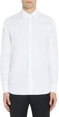 Prada Men's Cotton-Blend Poplin Slim Shirt