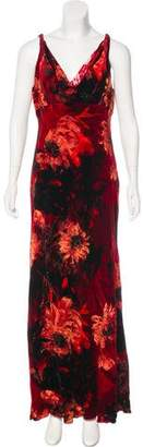 Carmen Marc Valvo Velvet Maxi Dress