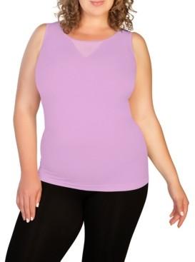Skinnytees skinnytees Plus Mesh V-Neck Tank