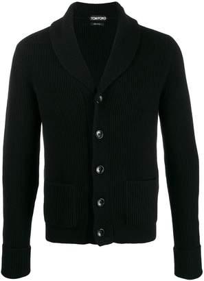 Tom Ford shawl collar ribbed cardigan