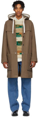 Acne Studios Brown Wool Duffle Coat