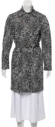 Diane von Furstenberg Long Sleeve Knee-Length Coat
