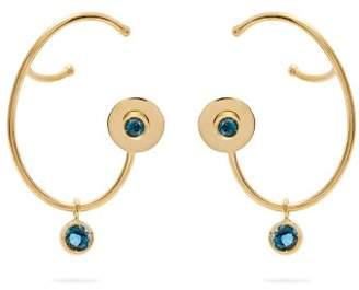 A.N.A Khouri - Lily Topaz & 18kt Gold Earrings - Womens - Blue
