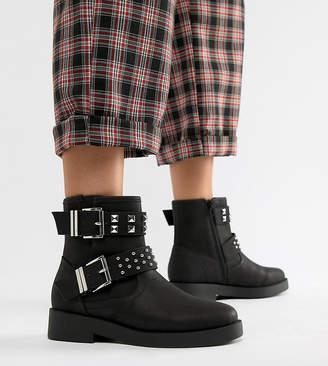 Asos Design DESIGN Wide Fit Brooke biker boots