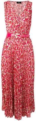 Elisabetta Franchi printed pleated sleeveless dress