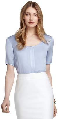 Short-Sleeve Silk Blouse $178 thestylecure.com