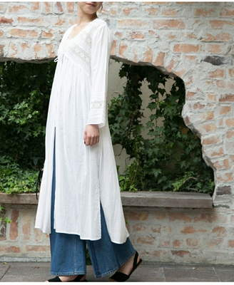 URBAN RESEARCH (アーバン リサーチ) - URBAN RESEARCH ne Quittez pas LACE/VOIL LONG GOWN アーバンリサーチ コート/ジャケット
