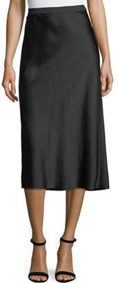 Alexander Wang Wash Go Woven Satin A-Line Midi Skirt