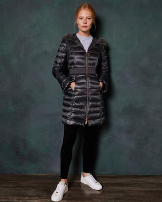 Ted Baker YANDLE Bell cuff longline puffer coat