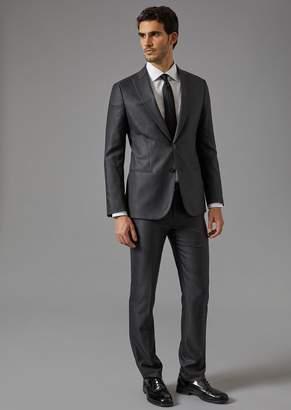 Giorgio Armani Soho Suit In Virgin Wool And Silk