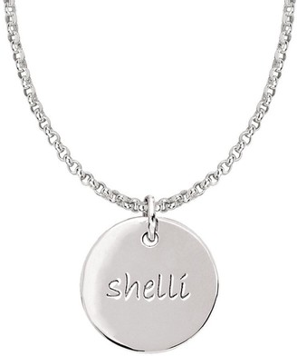 Posh Mommy Sterling Medium Disc Pendant with Chain