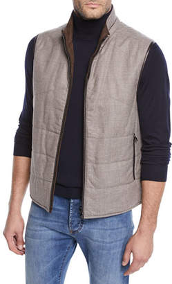 Corneliani Men's Reversible Woolsphere Vest