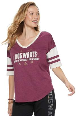 Juniors' Harry Potter Hogwarts Icons Football Graphic Tee