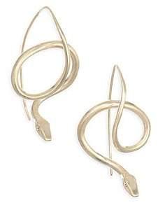 Annette Ferdinandsen Fauna Serpent Diamond& 14K Yellow Gold Earrings