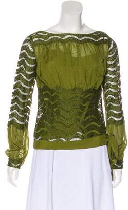 DKNY Lace Long Sleeve Top