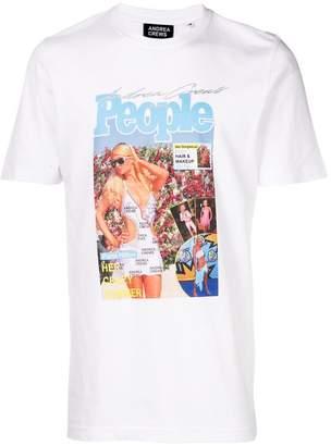 Andrea Crews magazine print T-shirt