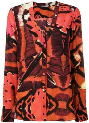 Alexander McQueen butterfly print blouse
