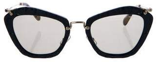 Miu Miu Mirrored Cat-Eye Sunglasses