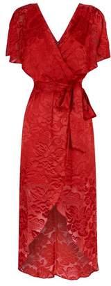 Alice + Olivia Darva Devoré Wrap Dress