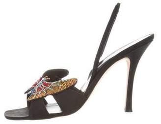 Rene Caovilla Embellished Slingback Sandals