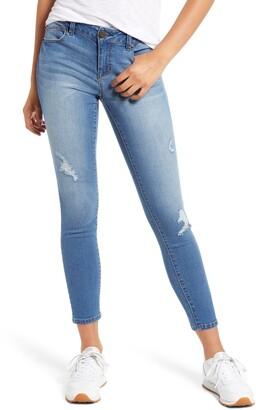 1822 Denim RE:Denim Distressed Ankle Skinny Jeans